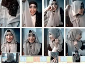 Cara Kreasi Hijab Paris Modern
