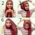 jilbab segi empat gaya feminin