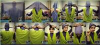 jilbab segi empat jadi turban