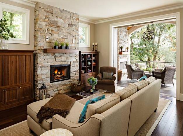 interior ruang keluarga yang memberi kesan mewah