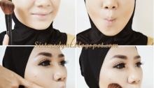 cara make up untuk berhijab