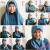 cara memakai jilbab wajah bulat
