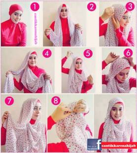 tata cara pakai hijab modern