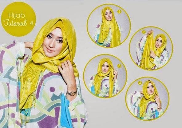 cara pakai hijab modern