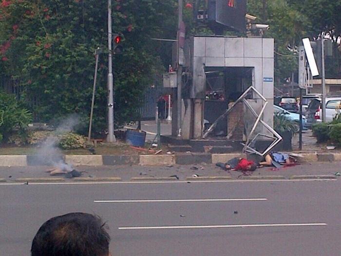 ledakan pos polisi di thamrin