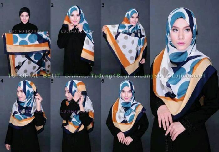 gambar cara memakai hijab