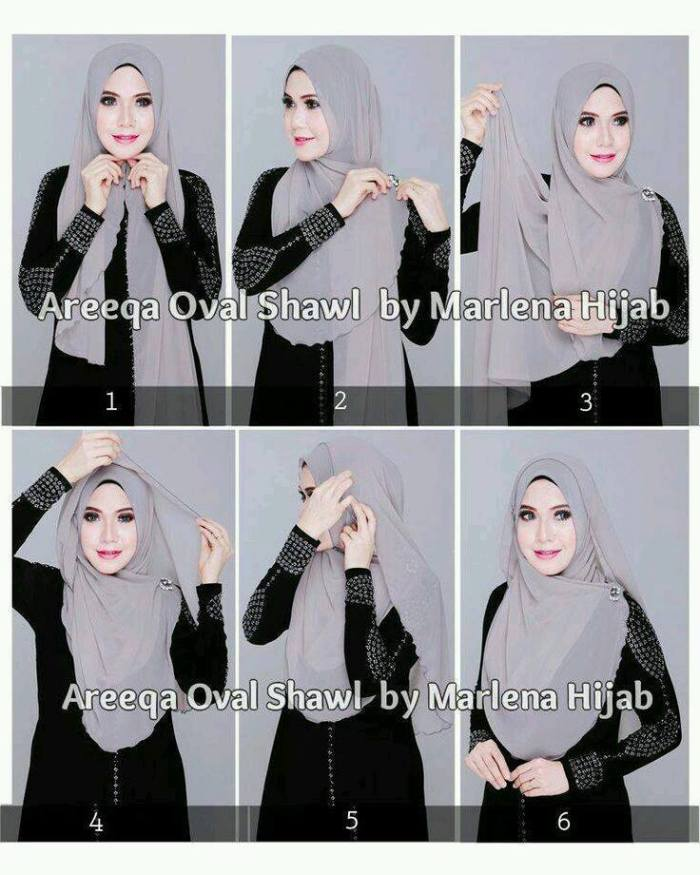 urutan cara memakai hijab