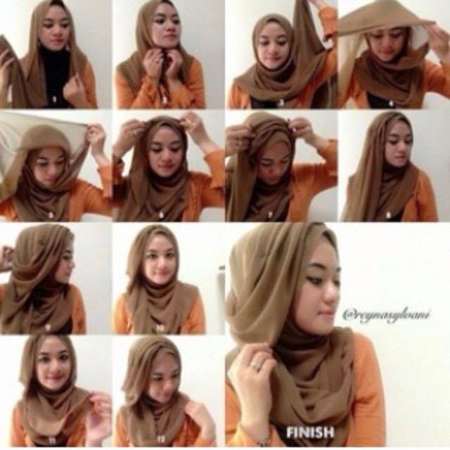 tutorial hijab modern paling baru