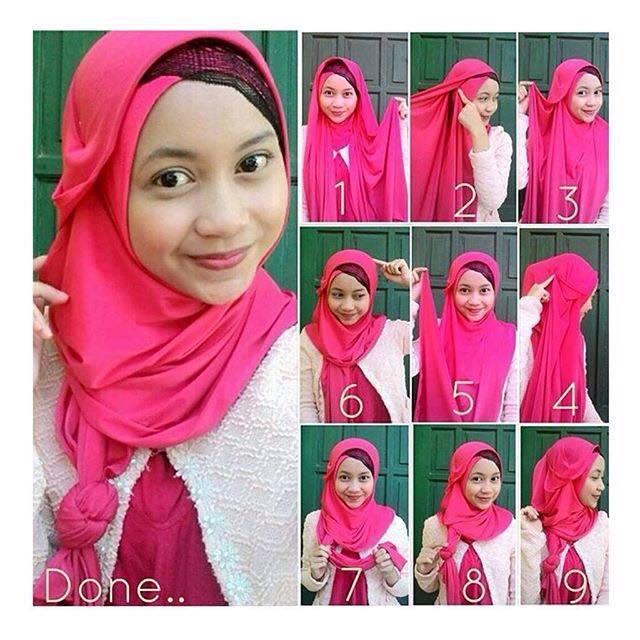 tutorial hijab terbaru 1