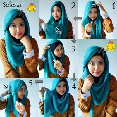tutorial hijab terbaru 11