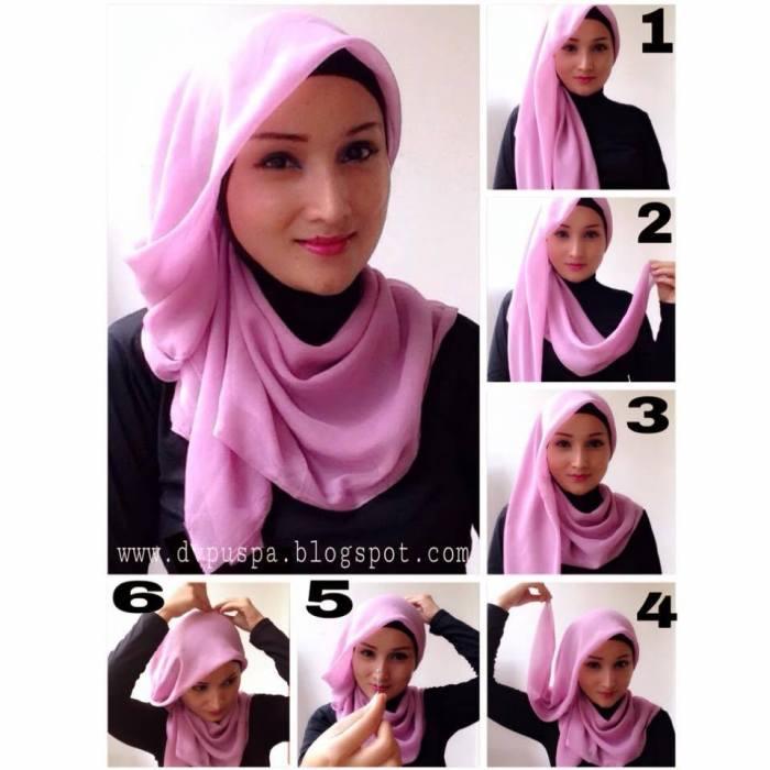 tutorial hijab terbaru 12