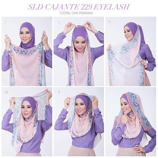 tutorial hijab terbaru 14
