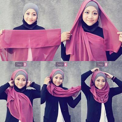 tutorial hijab terbaru 18
