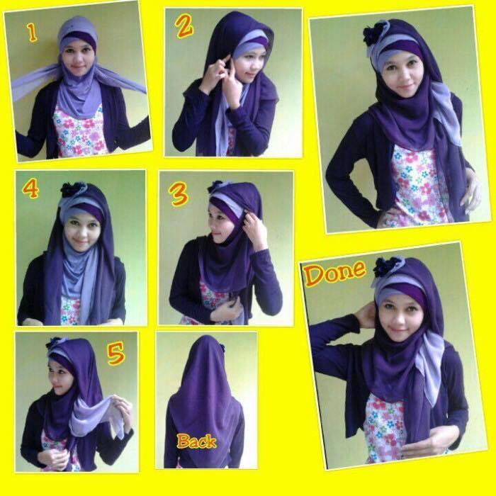 tutorial hijab terbaru 19