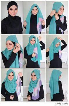 tutorial hijab terbaru 2