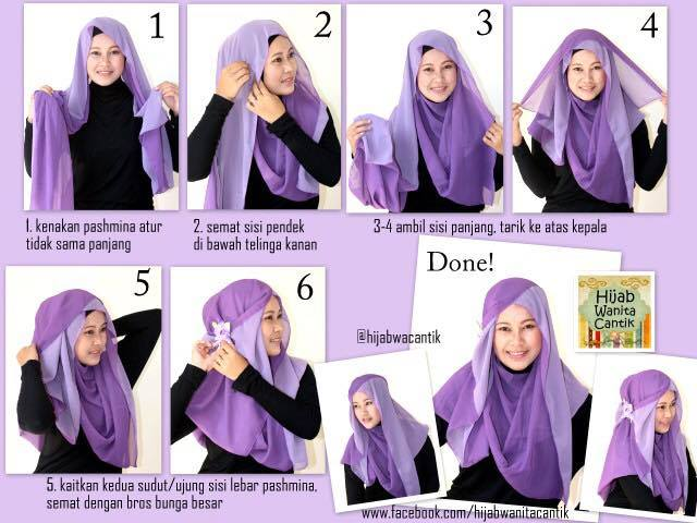 tutorial hijab terbaru 20