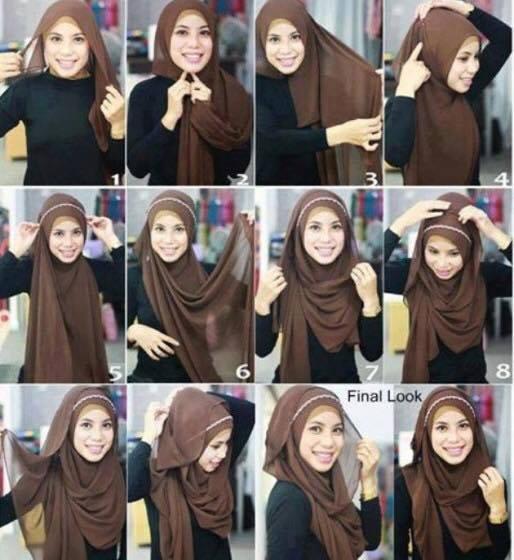 tutorial hijab terbaru 22