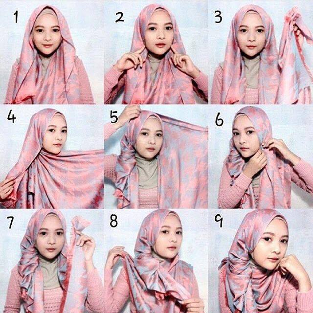 tutorial hijab terbaru 23