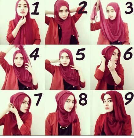 tutorial hijab terbaru 25