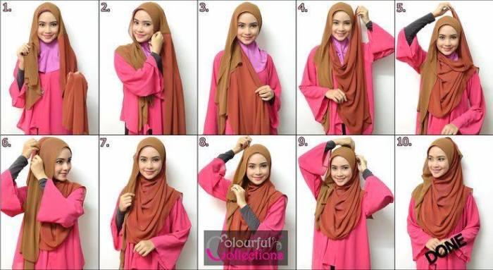 tutorial hijab terbaru 27