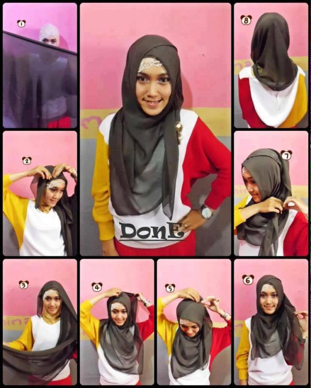 tutorial hijab terbaru 3