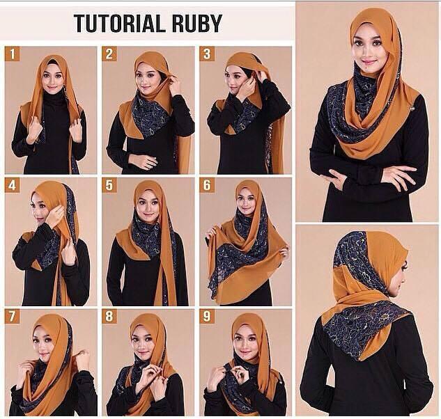 tutorial hijab terbaru 30