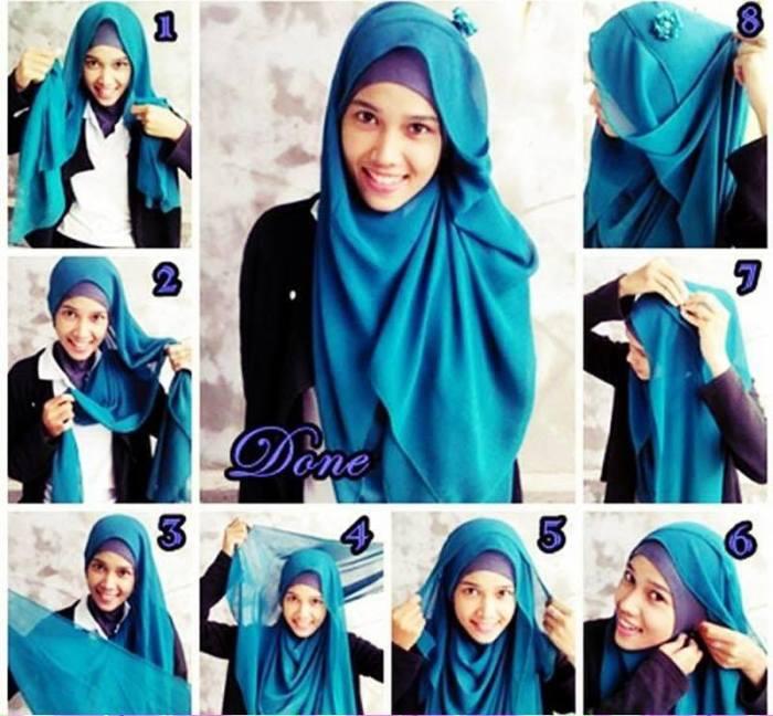 tutorial hijab terbaru 34
