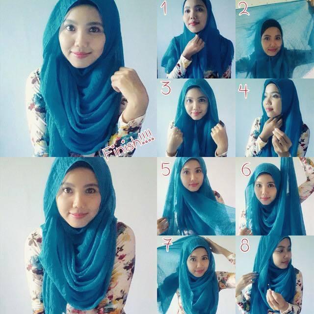 tutorial hijab terbaru 38