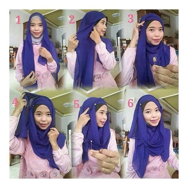 tutorial hijab terbaru 41