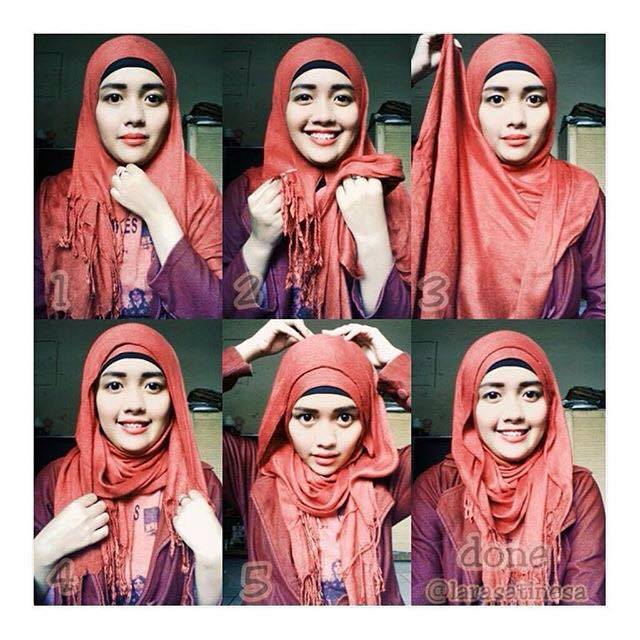 tutorial hijab terbaru 45