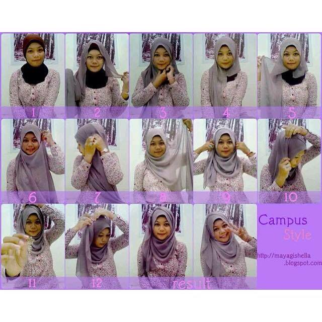 tutorial hijab terbaru 47