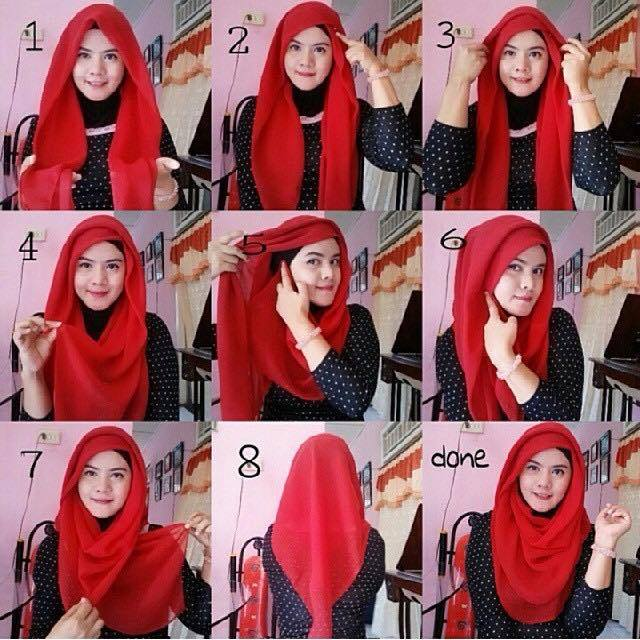 tutorial hijab terbaru 49