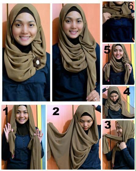 tutorial hijab terbaru 5