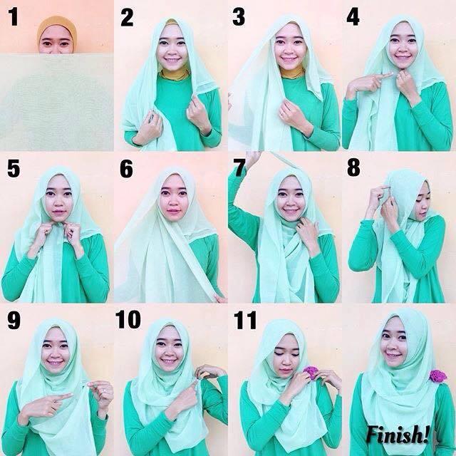 tutorial hijab terbaru 50