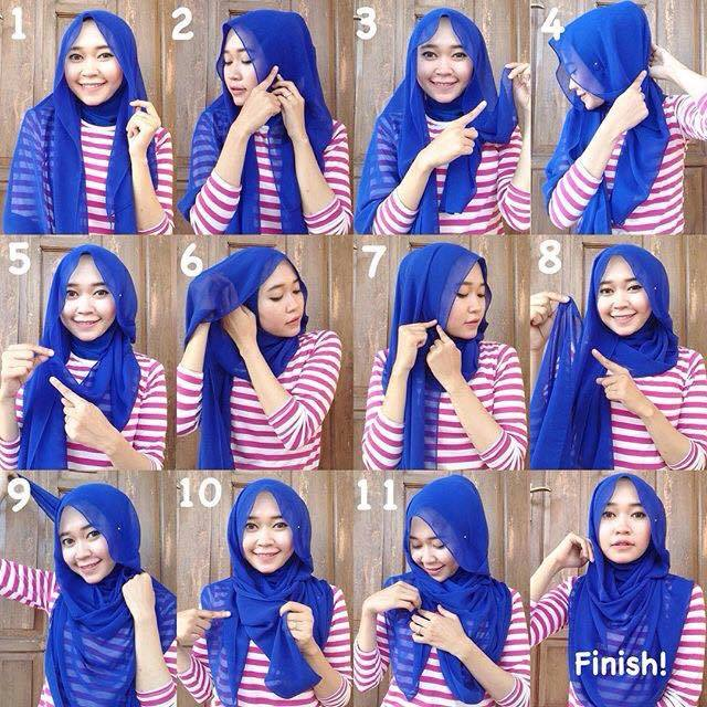 tutorial hijab terbaru 51