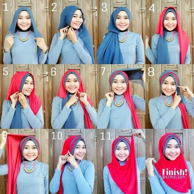 tutorial hijab terbaru 52