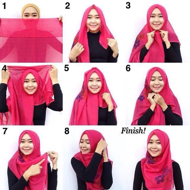 tutorial hijab terbaru 57