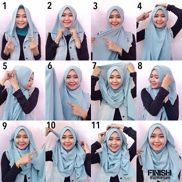 tutorial hijab terbaru 58