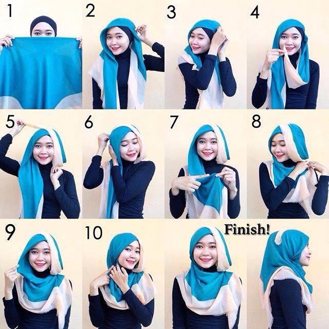 tutorial hijab terbaru 59