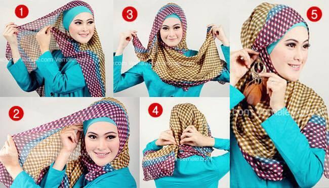 tutorial hijab terbaru 6