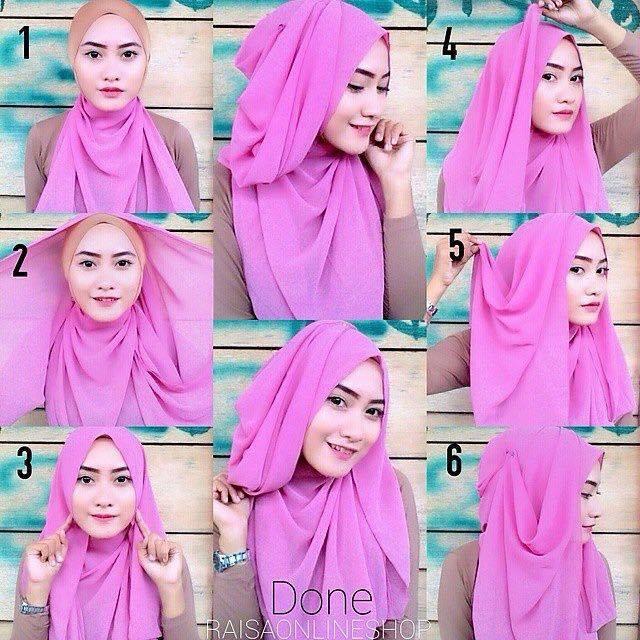 tutorial hijab terbaru 60