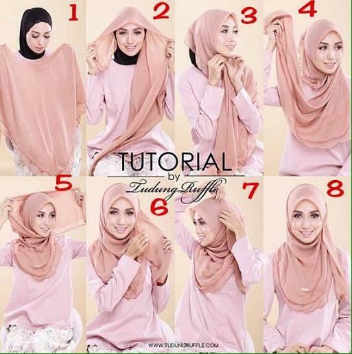 tutorial hijab terbaru 7