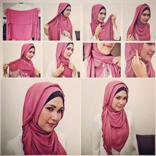 tutorial hijab terbaru 8